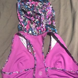 Zumba sports bra with hood -XL